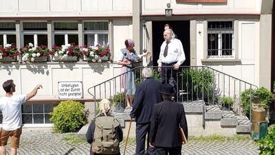 Das Haus Heimat im Bühler wurde während der Dreharbeiten zum Armenhaus von «Austerlingen». (Bild: PD)