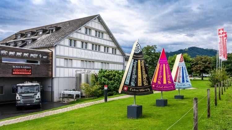 Die Schaukäserei in Stein produzierte mit ihren Partnern letztes Jahr rund 10'000 Tonnen Käse. (BIld: APZ)