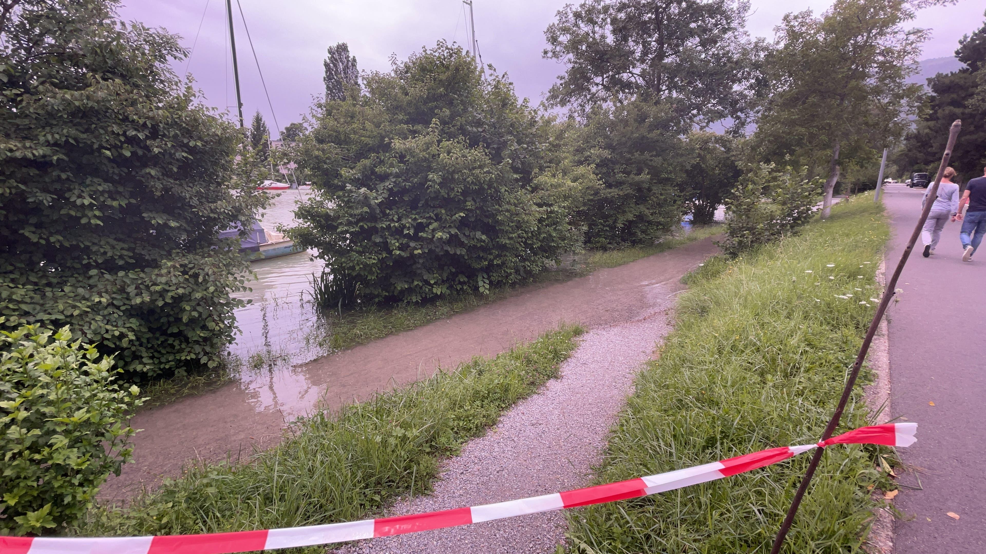 Einzelne Uferwege sind gesperrt