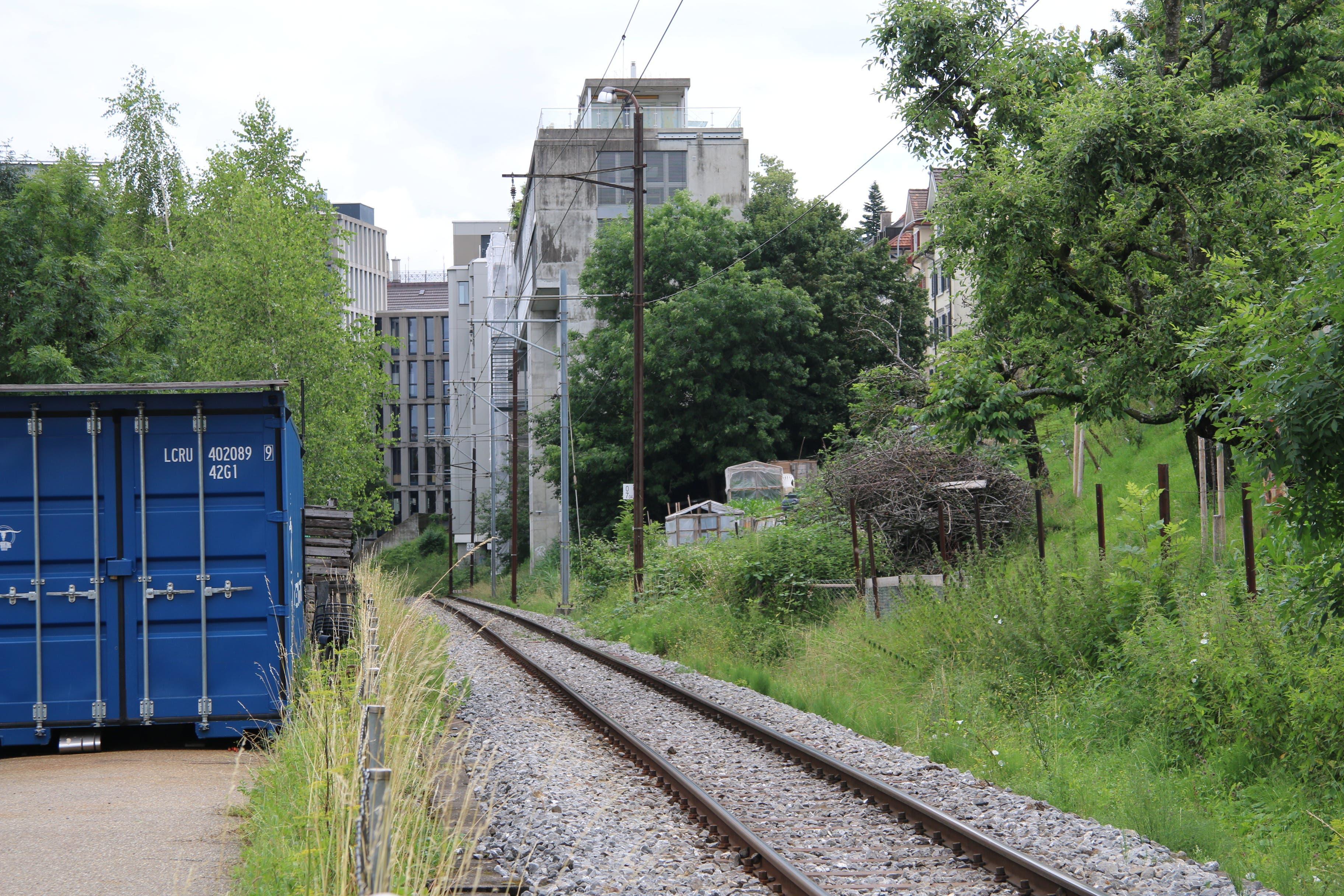 Heute führen die Gleise der Appenzeller Bahnen am Südrand des alten Güterbahnhofs entlang. Sie werden Ende Jahr durch die neue Linienführung ersetzt.
