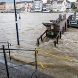 Noch bleibt der Rhein im Flussbett. (Nicole Nars-Zimmer)