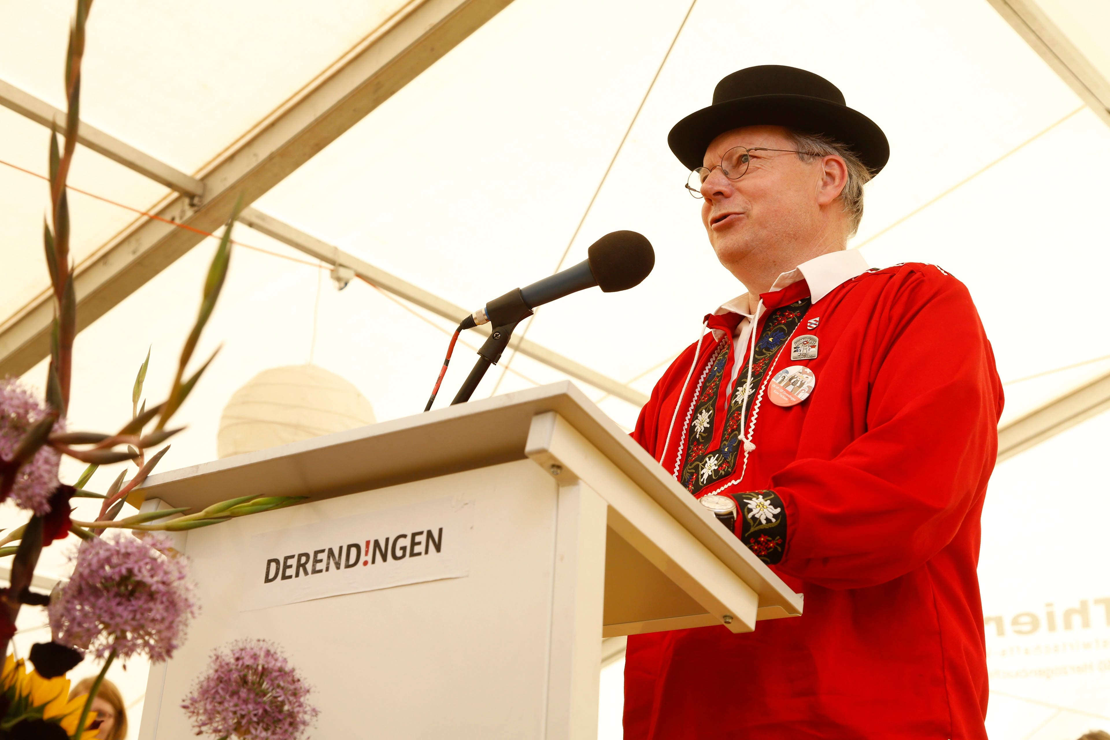Nordwestschweizerisches Jodlerfest in Derendingen mit OK-Vizepräsident Kuno Tschumi.