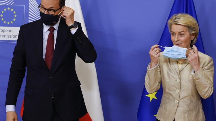 War Anfang Woche für ein Gespräch bei Kommissionschefin Ursula von der Leyen: Der polnische Ministerpräsident Mateusz Morawiecki. (Keystone)