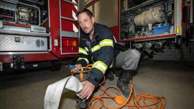 Diese Pumpe hat Michael Frischknecht in den letzten Wochen oft gebraucht. (Bild: Ralph Ribi)