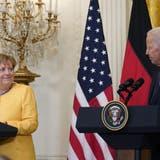 Freundliche Worte, wenige Ergebnisse: Kanzlerin Angela Merkel war am Donnerstag zu Besuch bei US-Präsident Joe Biden. (AP)