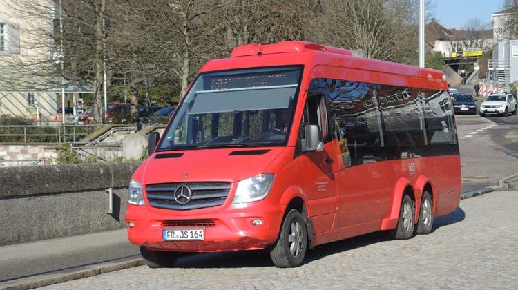 Der Stadtbus verbindet die beiden Rheinfelden miteinander. Er ist schon seit 2008 unterwegs. (Mira Güntert (8. März 2018))