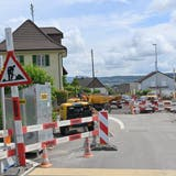 Das Bauprojekt in Dulliken, welches sich über den Wilerweg, bis über die Lehmgrube erstreckt, dauert voraussichtlich bis in den Juli 2022. (Bruno Kissling)