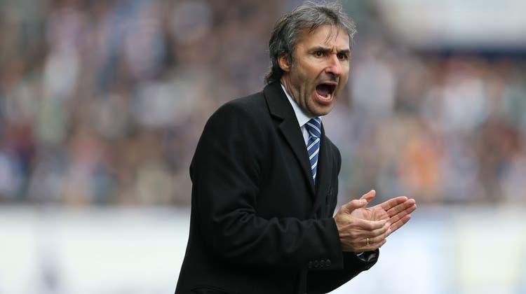 Ryszard Komornicki war in der Super League als Trainer beim FC Aarau und beim FC Luzern (im Bild, 2013) aktiv. (Philipp Schmidli)