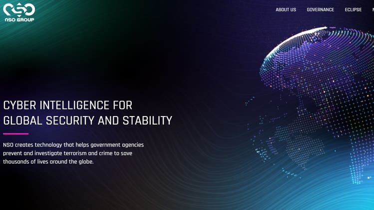 Auf seiner Homepage verspricht das Unternehmen, die Welt zu einem sichereren Ort zu machen. (Screenprint)
