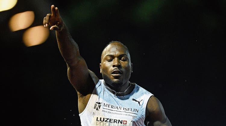 Der Schweizer Alex Wilson lief die 100 Meter in 9.84 Sekunden. (zVg / Aargauer Zeitung)