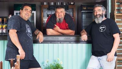 Die drei Brüder (v. l.) Fernando, Franco und Claudio Cassano wollen italienisches Flair an die Aarebringen. (Bild: Britta Gut)