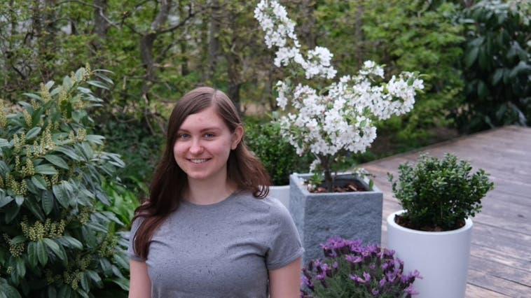 Die Kaisterin Helen Bergk hat das Gymnasium mit einem Notenschnitt von 5,5 abgeschlossen und erhält dafür den Baselbieter Maturandenpreis. (Zvg/Aargauer Zeitung)