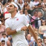 Roger Federer steht in Wimbledon in der dritten Runde. (EPA)