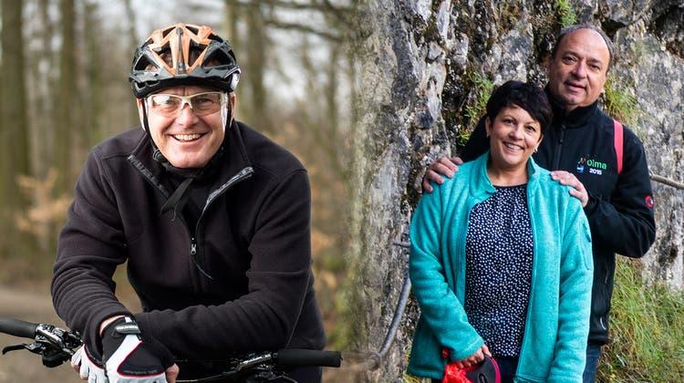 Landammann Stephan Attiger beim Biken in den Ferien. (Zvg / Aargauer Zeitung)