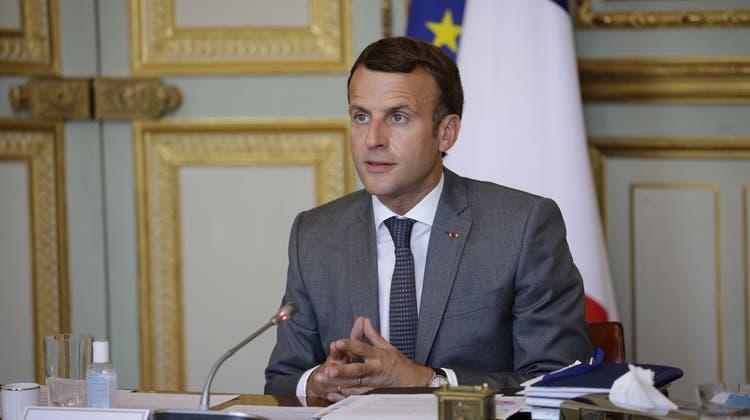 Spionage-Software im Telefon von Emmanuel Macron (Bild: Keystone)