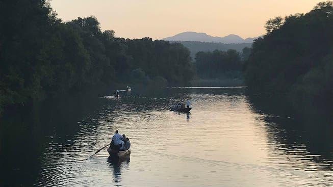 Damals noch keine Spur von Hochwasser: Die Konzertreihe «Flussaufwärts» fand 2009, 2011, 2013 und 2019 auf der Aare statt.