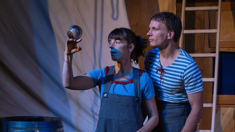 Aline und Martin Del Torre gastieren für fast zwei Monate in Rorschacherberg, wo sie ihr neues Programm vorbereiten. (Bild: Andri Vöhringer)