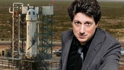 Jeff Bezos hebt mit seiner Rakete in den Weltraum ab. (Tony Gutierrez / AP)