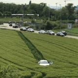 Auf der Flucht vor der Polizei: Betrunkener Autofahrer macht Ausflug in Gerstenfeld – und merkt es nicht einmal