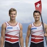 Möchten Olympia-Gold: Barnabé Delarze (links) und Roman Röösli. (Keystone)