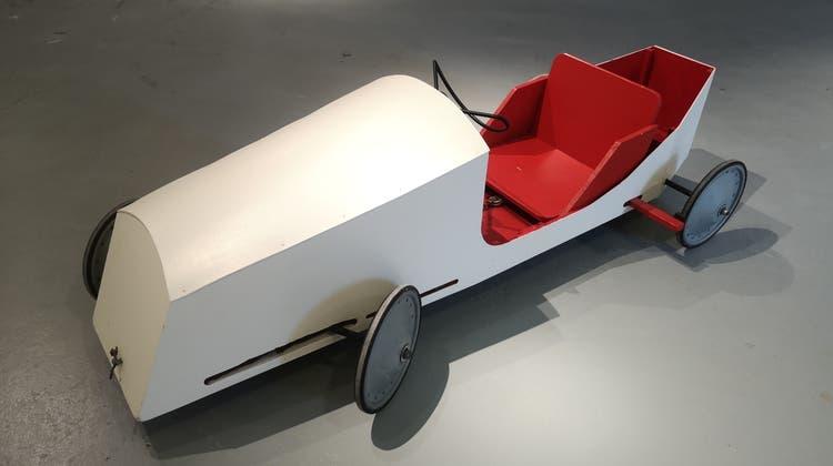 Modell der Seifenkiste für das Rennen in Lenzburg. (zvg)