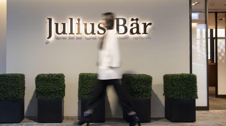 Der Halbjahresgewinn bei Julius Bär beträgt 606 Millionen Franken. (Keystone)