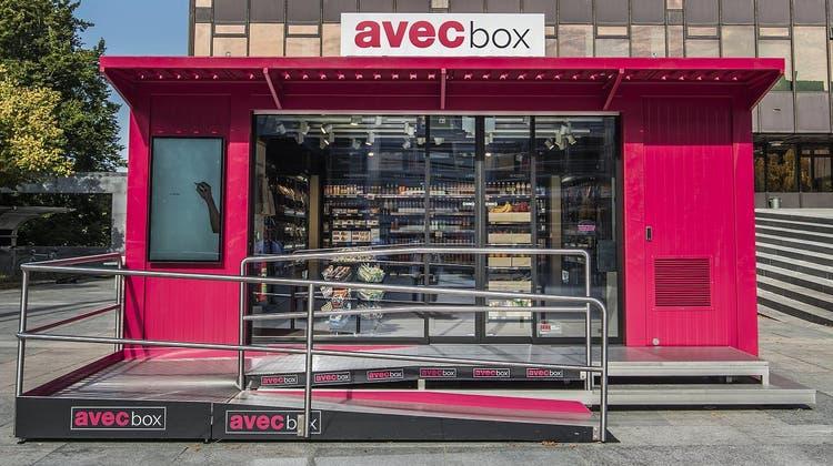 Offenbar erfolgreich: Das Shopkonzept Avec Box von Valora (hier auf dem ETH-Campus Hönggerberg) soll auch an anderen Standorten zum Einsatz kommen. (Valora)