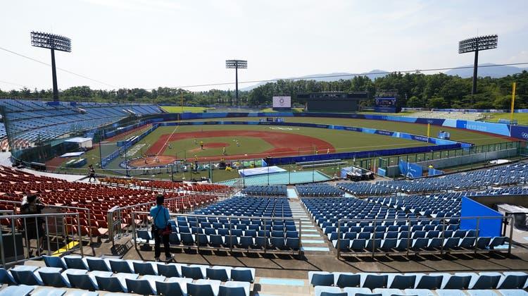 Geisterhafte Stimmung im Azuma Stadion in Fukushima. (Jae C. Hong / AP)