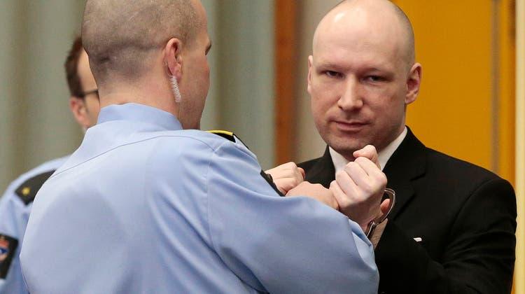 Massenmörder Anders Behring Breivik vor Gericht in Skien (15. März 2016). (Lise Aserud/Keystone)