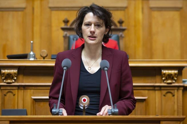 Céline Widmer, SP-Nationalrätin appelliert an die Solidarität.