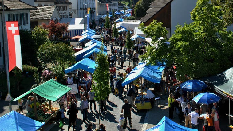 Einmal im Jahr verwandelt sich Zeiningen in einen grossen Markt – dieses Jahr aber fällt der Anlass erneut aus. (Nadine Böni (27. September 2014))