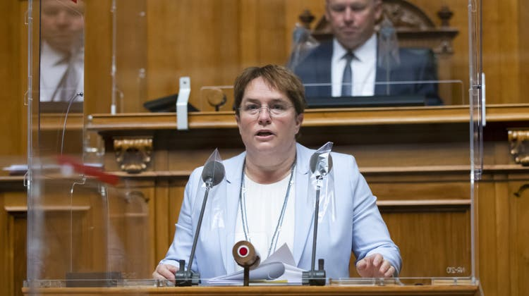Magdalena Martullo-Blocher im Nationalrat. (Keystone)