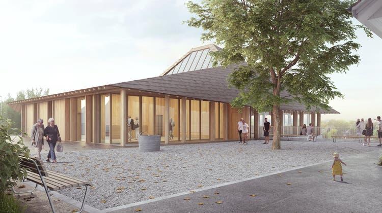 Deplus Architekten GmbH hat den Projektwettbewerb für das Projekt Inspiration Matterhaus der Römisch-Katholischen Kirchgemeinde Muri gewonnen. (Visualisierung: zvg)
