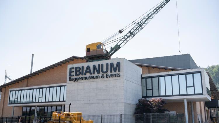 So präsentiert sich das Baggermuseum Ebianumin Fisibach. (Bilder: Alex Spichale)