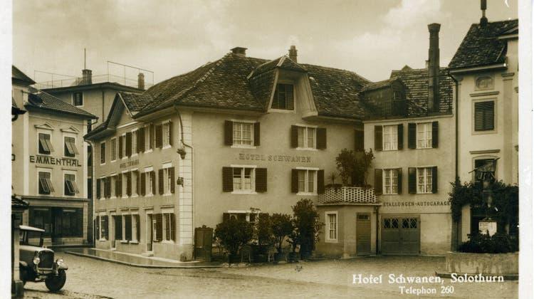 Das Hotel Schwanen in der Vorstadt. (J. Schaja)