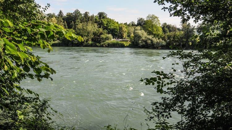 Blick von Fischbach-Göslikon Richtung Camping Sulz. (Toni Widmer)