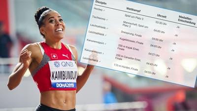 Alle Wettkämpfe, alle Medaillen-Entscheidungen: Das Olympia-Programm