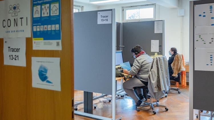Das Team des Contact-Tracing-Centers wird massiv verkleinert. (Chris Iseli)