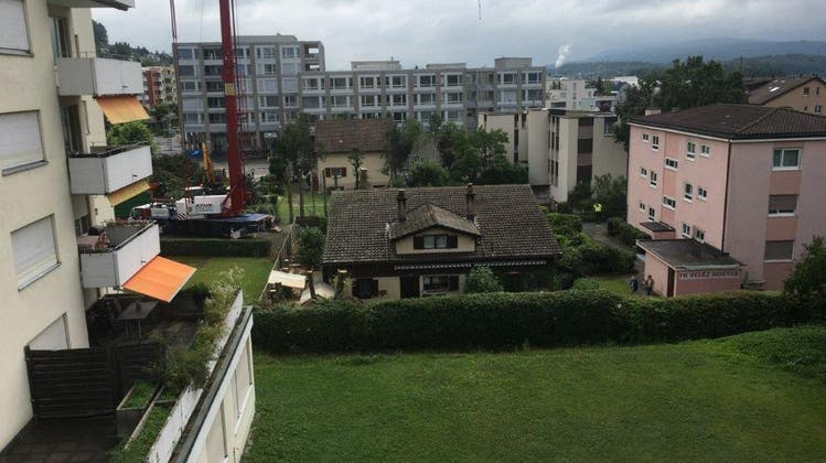 Vergangenen Samstag wurden zum Ärger von Anwohnern mehrere Tannen im Geroldswiler Zentrum nahe der alten Buswendeschlaufe entfernt. (zvg)