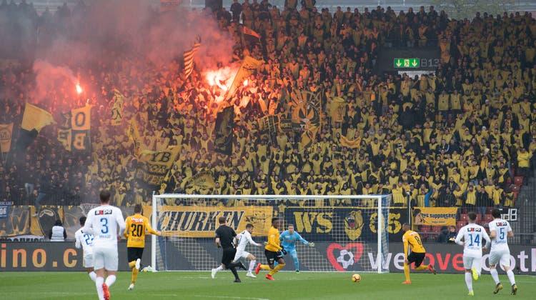 Endlich sind wieder Zuschauer zugelassen, wie hier im Berner Wankdorf-Stadion im April 2019. (Toto Marti / Freshfocus)
