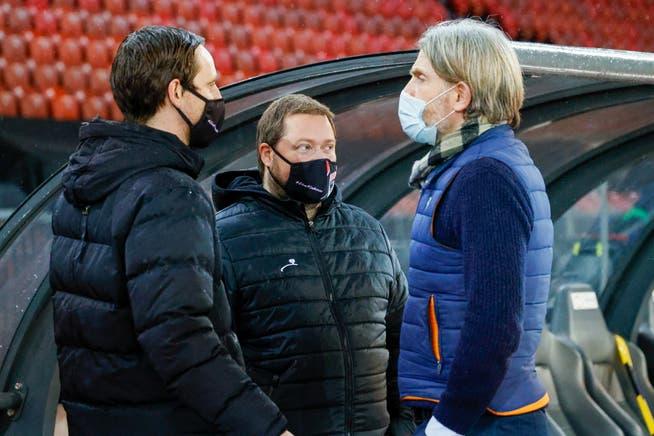 Auch Sportchef Sandro Burki (links) und Trainer Stephan Keller (rechts) haben sich zweifach impfen lassen.