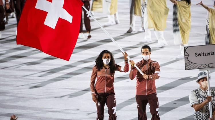 Die Olympischen Sommerspiele 2020 sind am Freitagnachmittag (Schweizer Zeit) in Tokio eröffnet worden. (Eugene Hoshiko / AP)