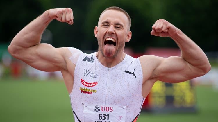Silvan Wicki liess an der Schweizer Meisterschaft in Langenthal Ende Juni die Muskeln spielen. (Claudio De Capitani / freshfocus)
