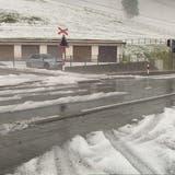 Das Appenzellerland sah am frühen Samstagabend wegen des starken Hagels aus wie eine Winterlandschaft. (BRK News)