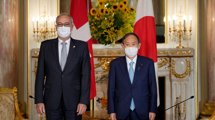 Handel und Forschung: Guy Parmelin trifft Japans Premierminister Suga
