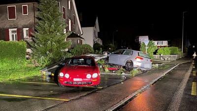Beim Unfall wurden zwei Personen verletzt. (Bild: Kapo Thurgau)