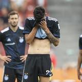 Grosse Enttäuschung beim GC nach der ersten Partie zurück in der Super League. (Ennio Leanza / Keystone)