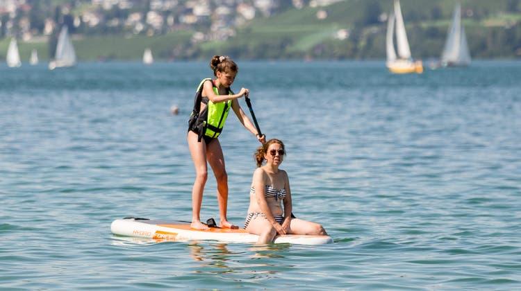 Stand-Up-Paddeln ist wieder erlaubt auf dem Bielersee. (Sandra Ardizzone / AGR)
