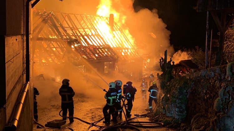 Rund 95 Angehörige der Feuerwehren Bipp, Langenthal, Jurasüdfuss und Wangen standen im Einsatz. (Kapo Bern)