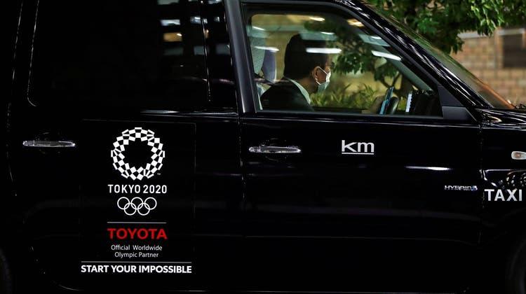 So sehen die offiziellen Taxis für Journalisten bei den Olympischen Spielen in Tokio aus. Ich fuhr in einem anderen. (zvg)